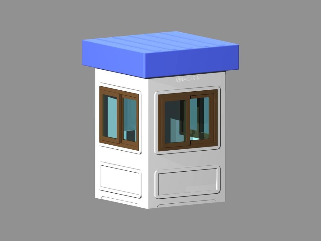 Mái hộp vuông được thiết kế bo góc và đúc liền khối nên tạo ra sự chắc khoẻ, khác hẳn với các sản phẩm được ốp tấm Aluminum