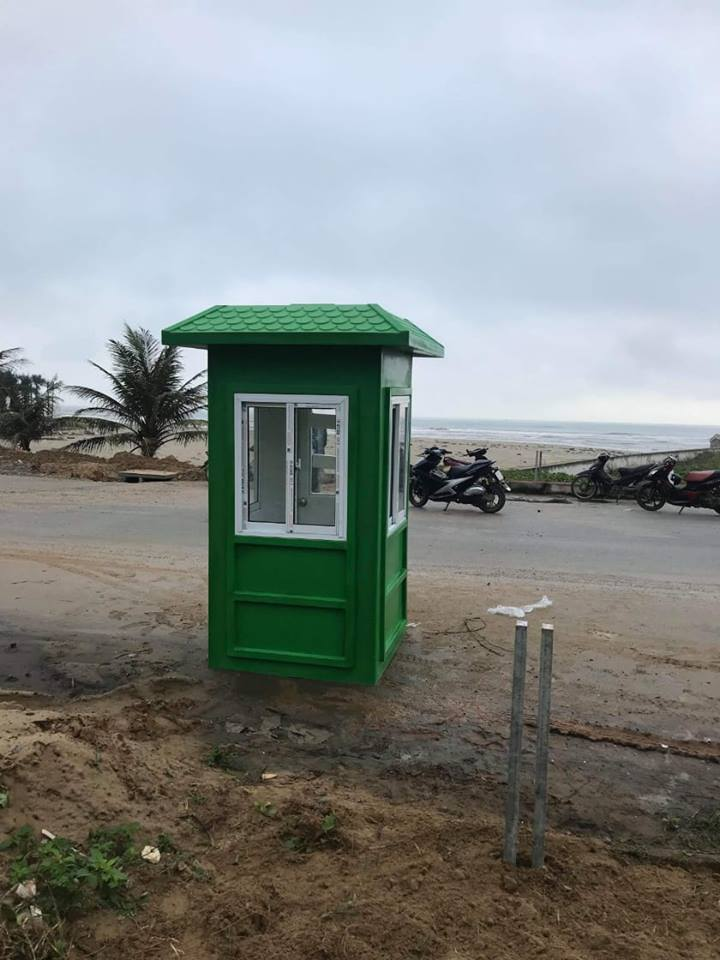Nhà bảo vệ lắp đặt tại khu kinh tế ven biển Hà Tĩnh