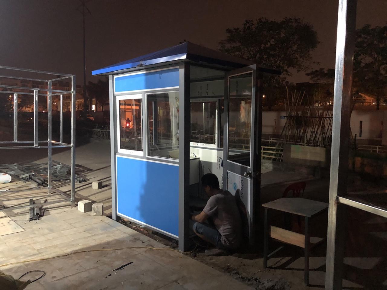 Lắp đặt cabin chốt bảo vệ bằng thép