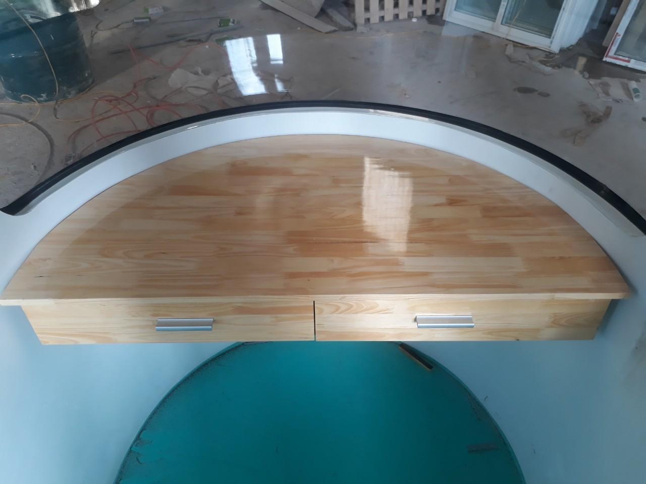 Nội thất đúc liền khối với bàn làm việc bằng gỗ tự nhiên bề mặt tiêu chuẩn nội thất AAA